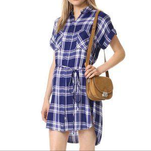 Rails blue plaid Haley shirt dress